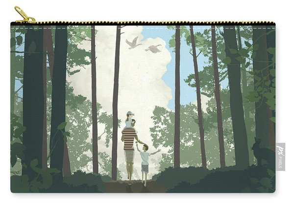 Carry-all Pouch featuring the digital art Grandview Park by Clint Hansen