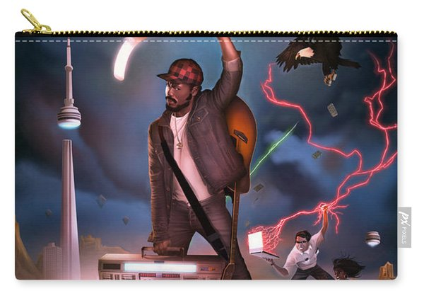 Carry-all Pouch featuring the digital art Gravity Poster by Nelson Garcia