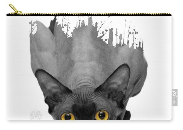 Gray Sphynx No 02 Carry-all Pouch