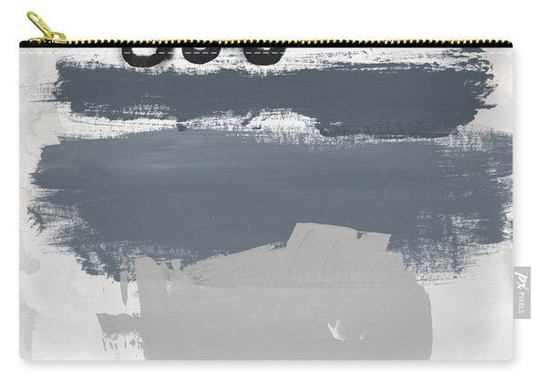Grayscale 1- Abstract Art By Linda Woods Carry-all Pouch