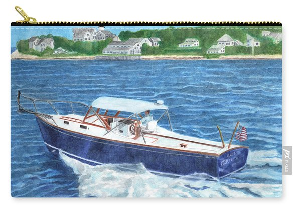 Carry-all Pouch featuring the painting Great Ackpectations Nantucket by Dominic White