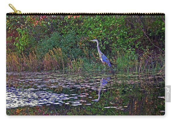 Great Blue Heron In Autumn Carry-all Pouch