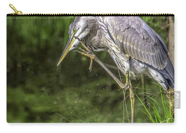 Great Blue Heron Itch Carry-all Pouch