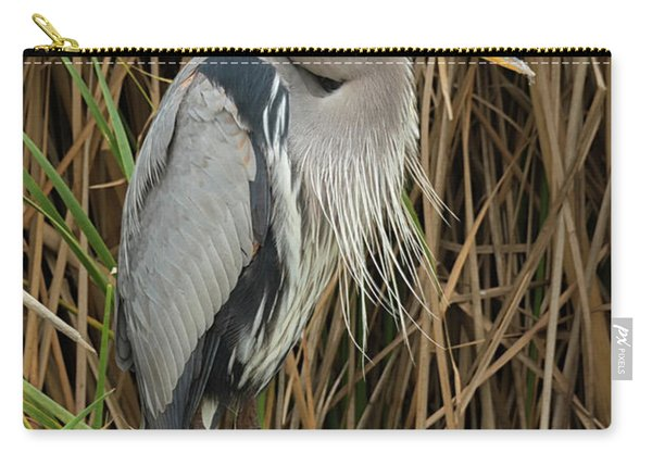 Great Blue Heron On Padre Island Carry-all Pouch
