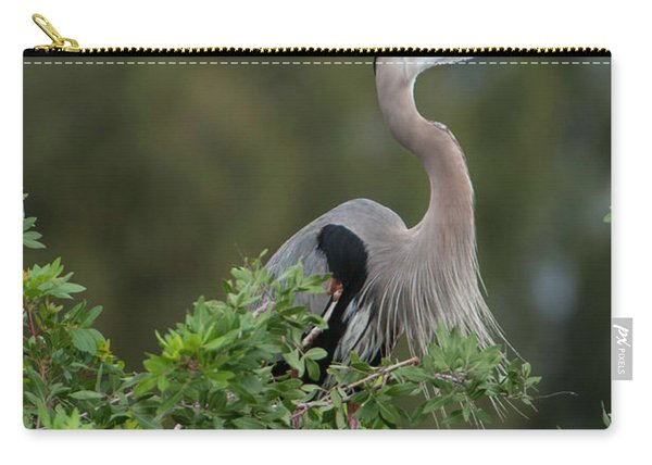 Great Blue Heron Portrait Carry-all Pouch