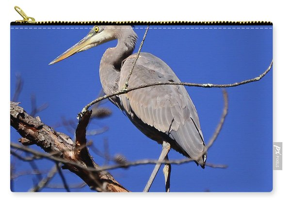 Great Blue Heron Strikes A Pose Carry-all Pouch