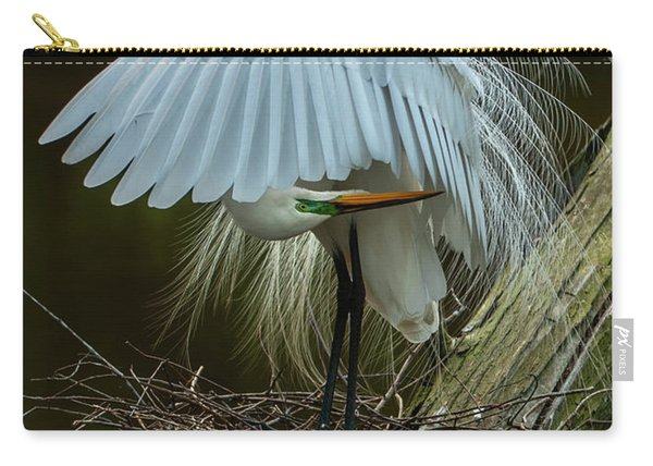 Great Egret Beauty Carry-all Pouch