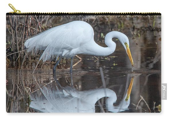 Great Egret In Breeding Plumage Dmsb0154 Carry-all Pouch