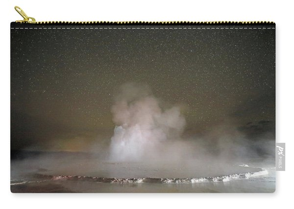 Carry-all Pouch featuring the photograph Great Fountain Geyser At Night by Jean Clark