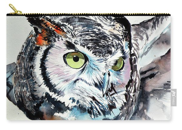 Great Horned Owl Cd Carry-all Pouch