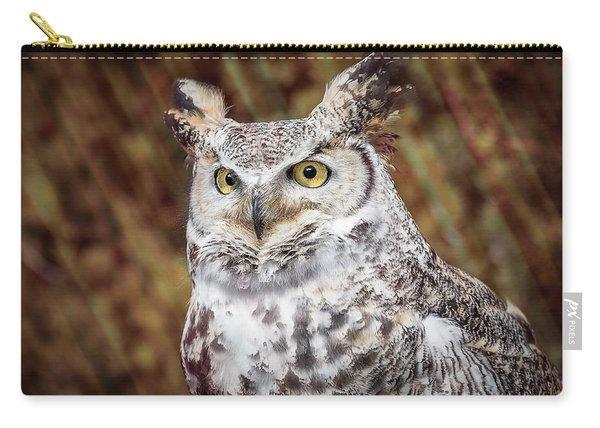 Great Horned Owl Portrait Carry-all Pouch