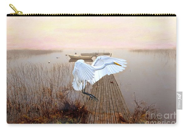 Great White Heron Landing Carry-all Pouch