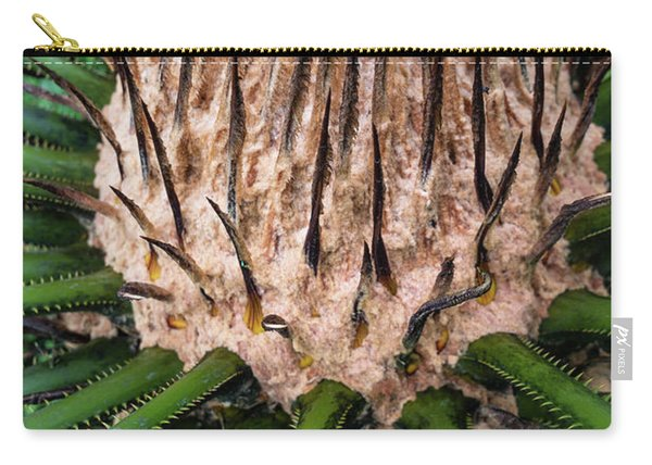 Carry-all Pouch featuring the photograph Green Abstract Series No.10 by Juan Contreras