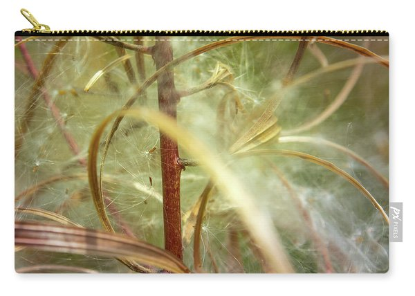Carry-all Pouch featuring the photograph Green Abstract Series No.11 by Juan Contreras