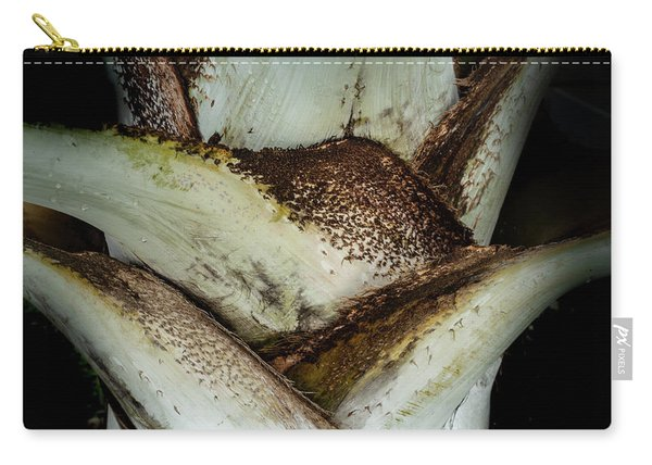 Carry-all Pouch featuring the photograph Green Abstract Series No.2 by Juan Contreras