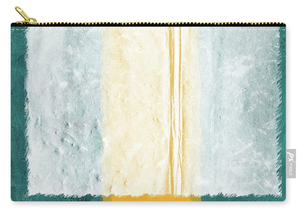 Green And Yellow Abstract Theme IIi Carry-all Pouch