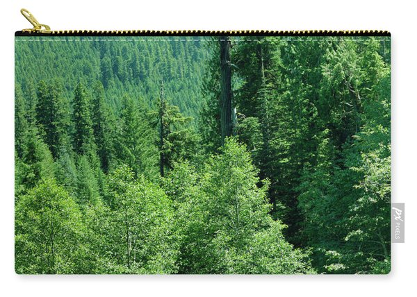Green Conifer Forest On Steep Hillside  Carry-all Pouch
