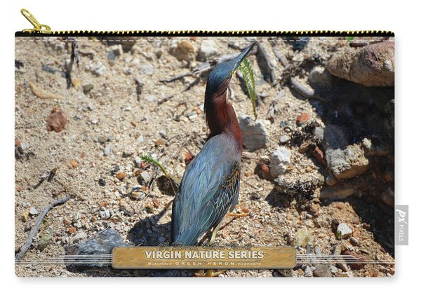Green Heron Strut - Virgin Nature Series Carry-all Pouch