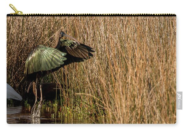 Green Ibis Carry-all Pouch