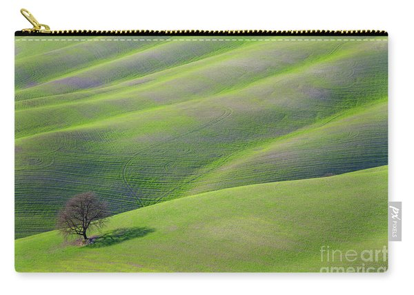 Green Rolling Grassland Carry-all Pouch