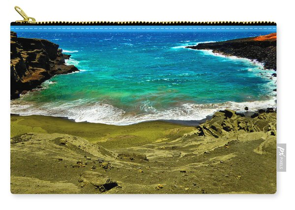 Green Sand Beach Carry-all Pouch