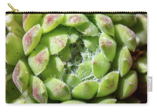 Green Sempervivum Top Down Close Up Carry-all Pouch