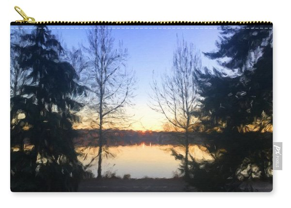Greenlake Dawn Evergreens Carry-all Pouch
