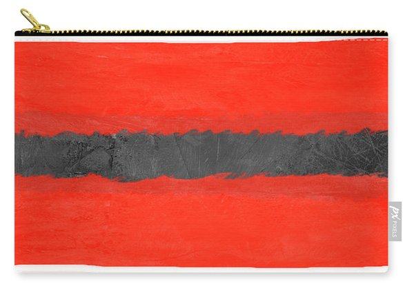 Grey And Red Abstract IIi Carry-all Pouch
