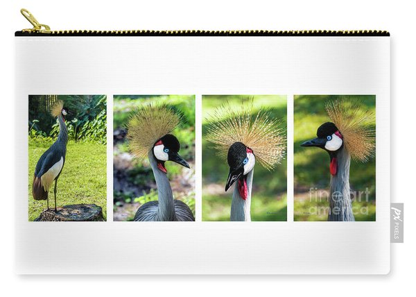 Grey Crowned Crane Gulf Shores Al Collage 1 Carry-all Pouch