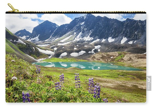 Carry-all Pouch featuring the photograph Grizzly Bear Lake by Tim Newton