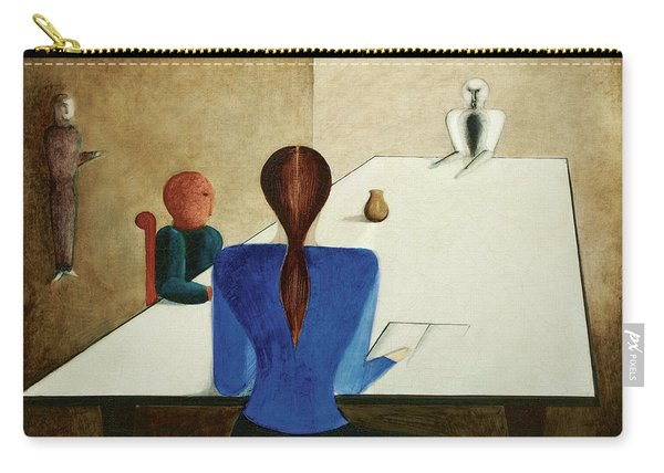 Group At Table, 1923 Carry-all Pouch