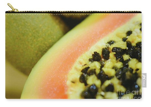 Group Of Fruits Papaya, Grape, Kiwi And Bananas Carry-all Pouch