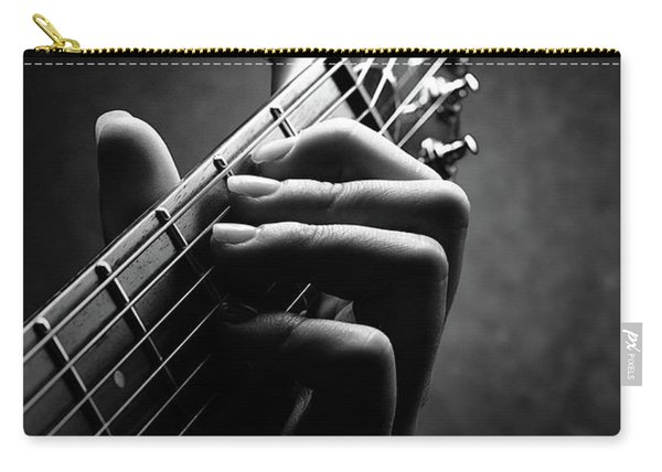 Guitarist Hand Close-up Carry-all Pouch