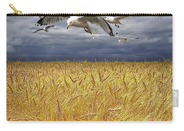 Gulls Over A Wheat Field Carry-all Pouch