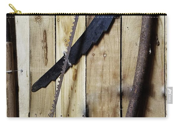 Hack Saw On Barn Wall Carry-all Pouch