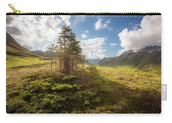 Carry-all Pouch featuring the photograph Haiku Forest by Tim Newton