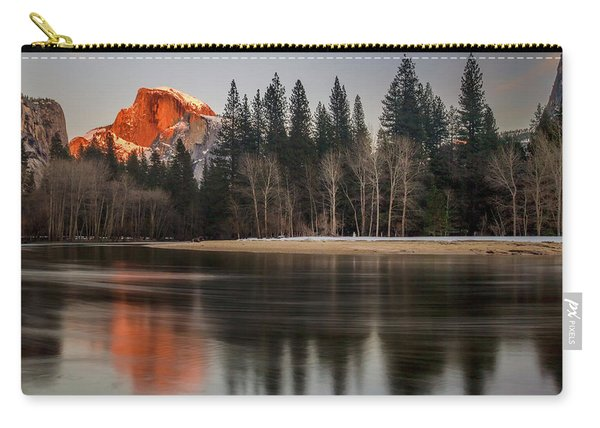 Half Dome Sunset In Winter Carry-all Pouch
