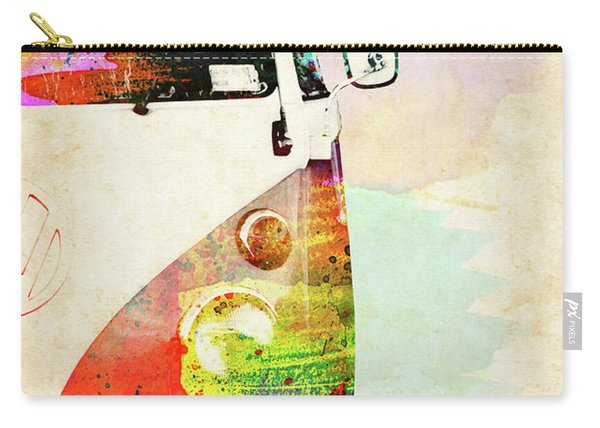 Half Right Side Volkswagen Van Colorful Watercolor Carry-all Pouch