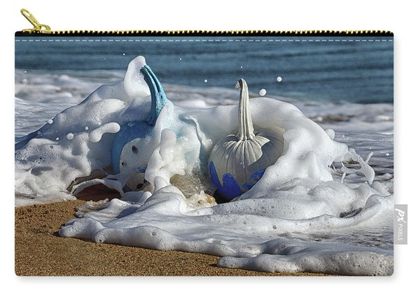 Halloween Blue And White Pumpkins In The Surf Carry-all Pouch