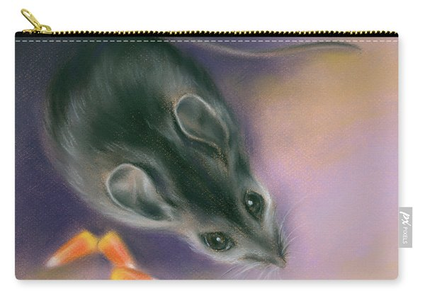 Halloween Mouse With Candy Corn Carry-all Pouch