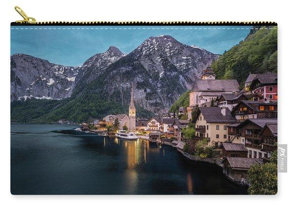Hallstatt Village At Dusk, Austria Carry-all Pouch