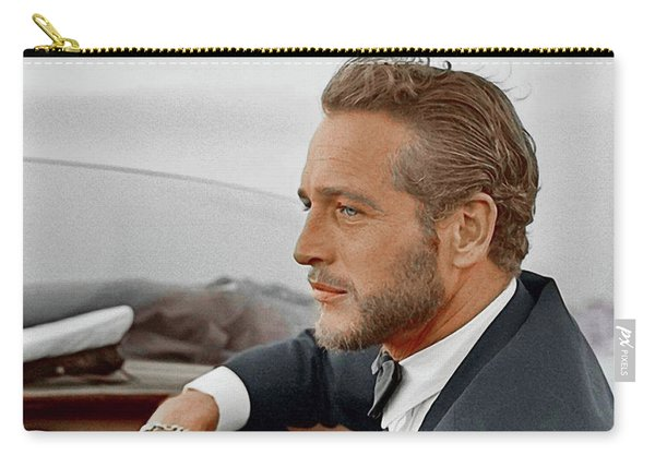 Hand Colored Picture Of Paul Newman Carry-all Pouch