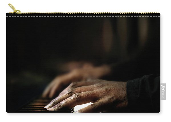 Hands Playing Piano Close-up Carry-all Pouch