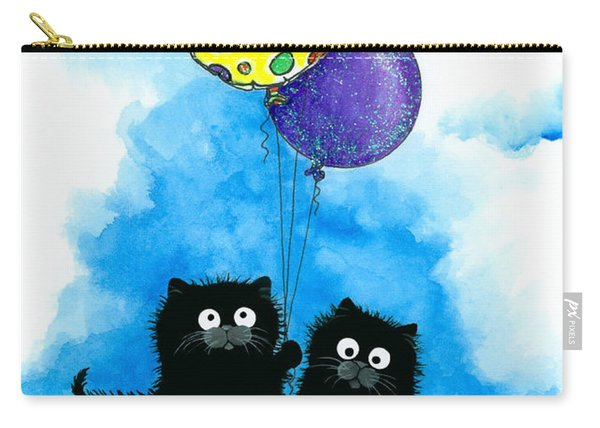 Happy Birthday Cats Carry-all Pouch