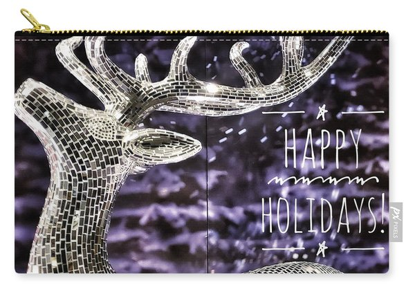 Happy Holiday Sparkle Carry-all Pouch