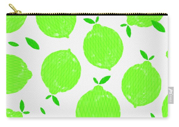 Happy Lime Print Carry-all Pouch