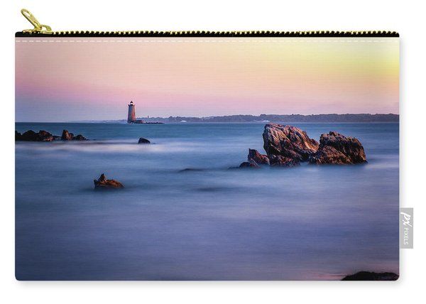 Carry-all Pouch featuring the photograph Harbor Light by Jeff Sinon