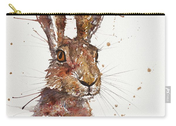 Hare Portrait Carry-all Pouch