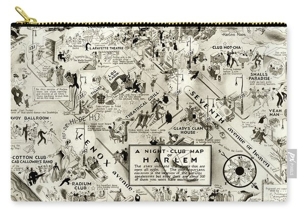 Harlem Prohibition Nightclub Map 1926 Carry-all Pouch