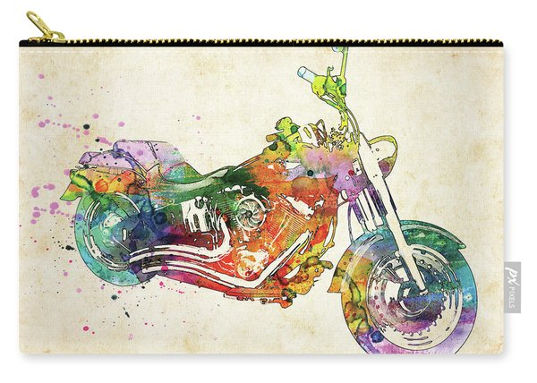 Harley Davidson Colorful Watercolor Carry-all Pouch